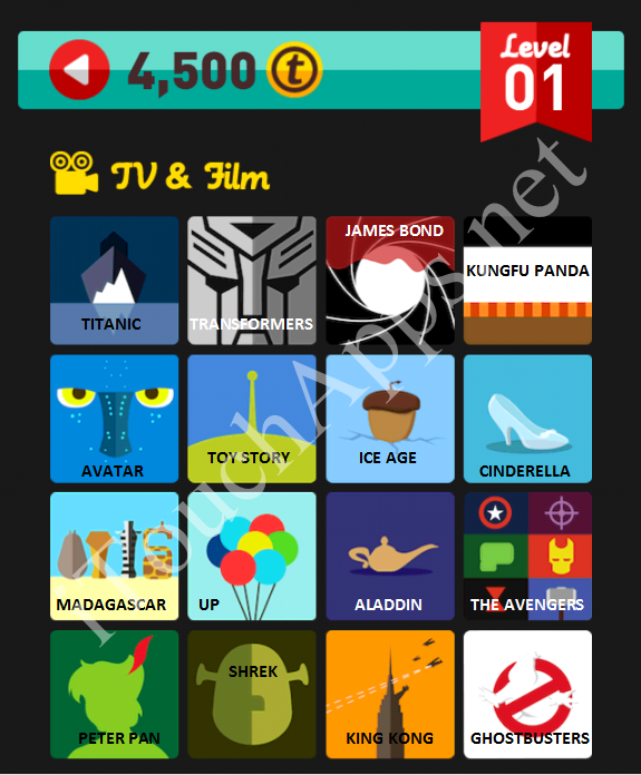 Icon Pop Quiz TV & Film Quiz Level 1 Answers / Solutions