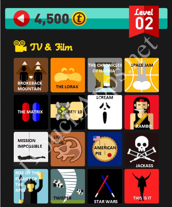 Icon Pop Quiz TV & Film Quiz Level 2 Part 3 Answers / Solutions