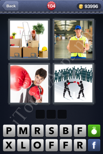 4 Pics 1 Word Level 104 Solution
