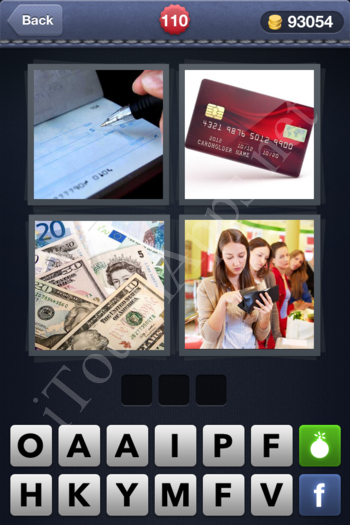 4 Pics 1 Word Level 110 Solution