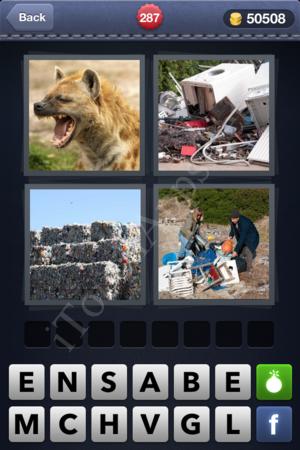 4 Pics 1 Word Level 287 Solution