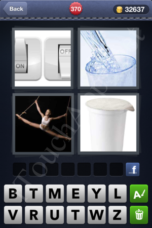 4 Pics 1 Word Level 370 Solution