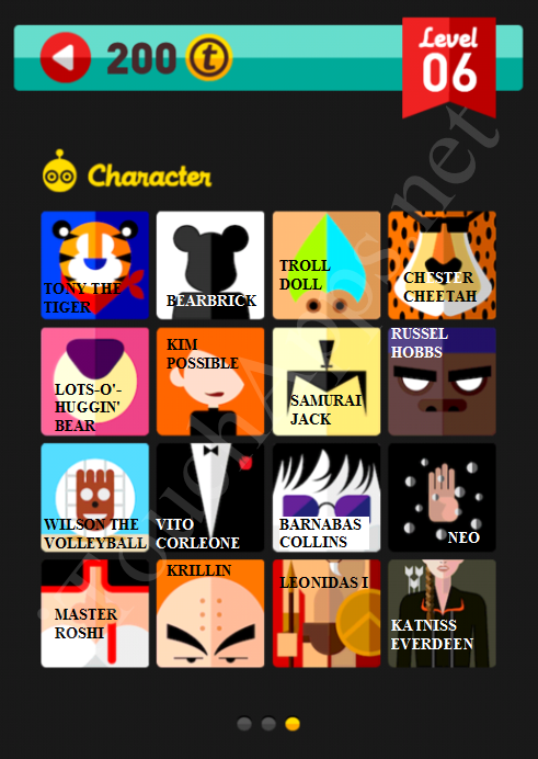 Icon Pop Quiz Character Quiz Level 6 Part 3 Answers / Solutions