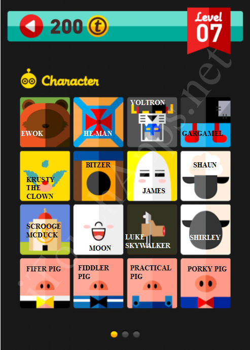 Icon Pop Quiz Character Quiz Level 7 Part 1 Answers / Solutions
