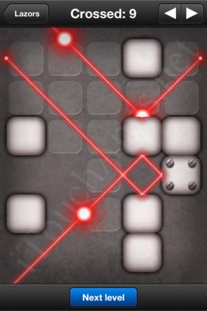 Lazors Crossed 9 Solution