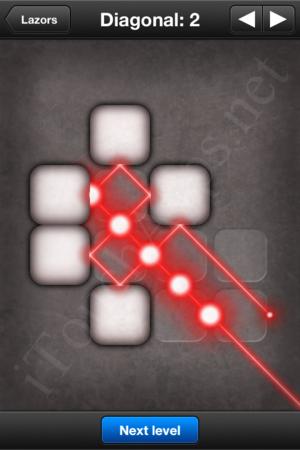 Lazors Diagonal 2 Solution