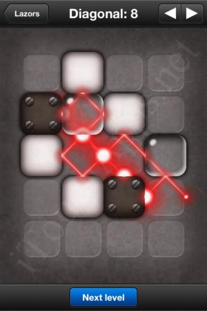 Lazors Diagonal 8 Solution
