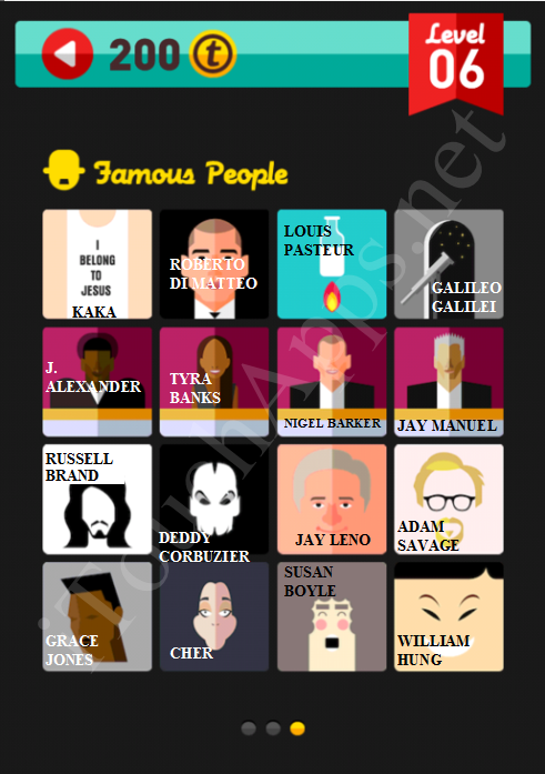 Icon Pop Quiz Game Famous People Quiz Level 6 Part 3 Answers / Solutions