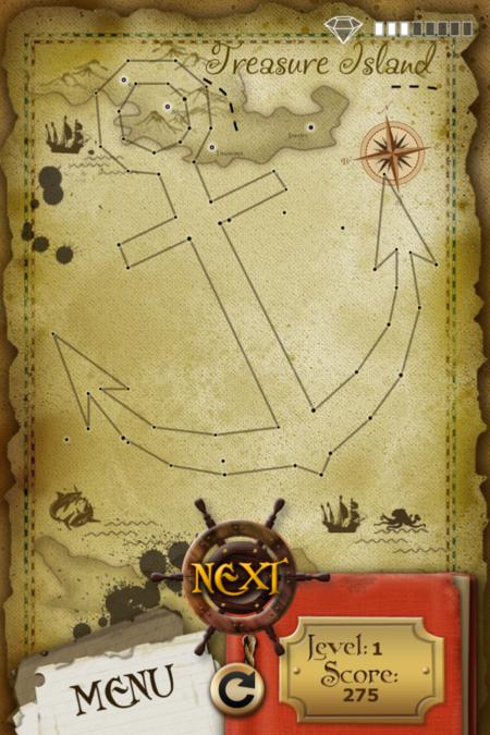 Pictorial Solution: 1 Level Treasure Island