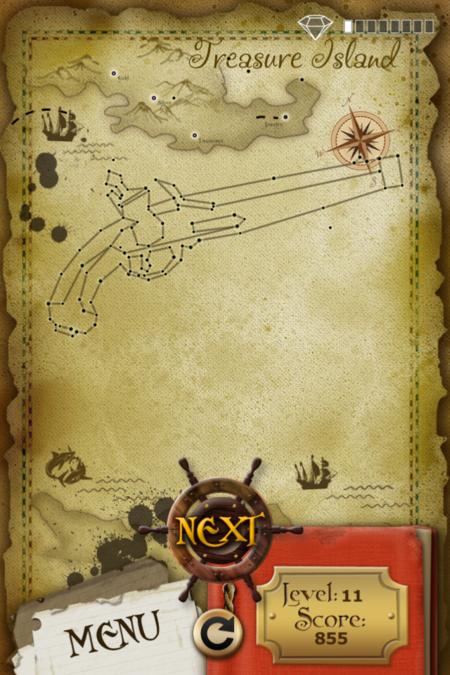 Pictorial Solution: 11 Level Treasure Island