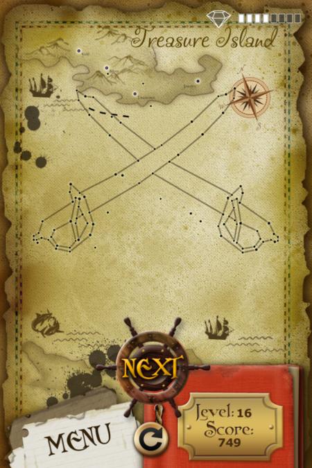 Pictorial Solution: 16 Level Treasure Island