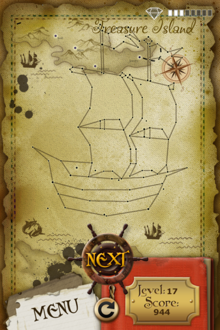 Pictorial Solution: 17 Level Treasure Island