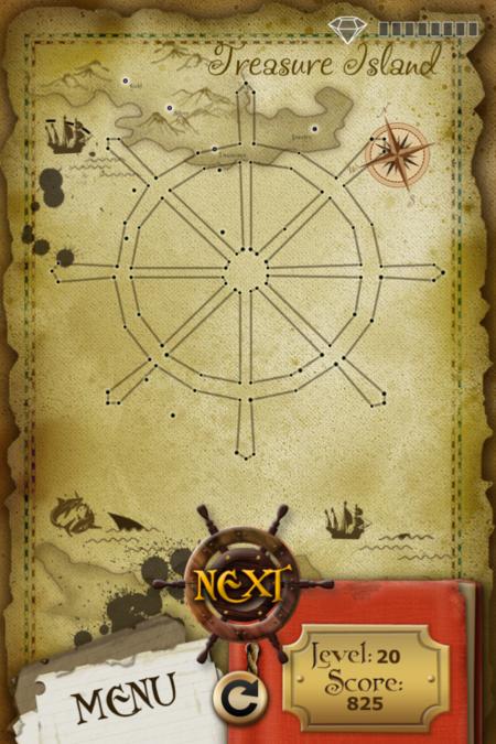 Pictorial Solution: 20 Level Treasure Island