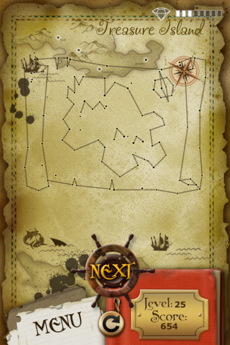 Pictorial Solution: 25 Level Treasure Island