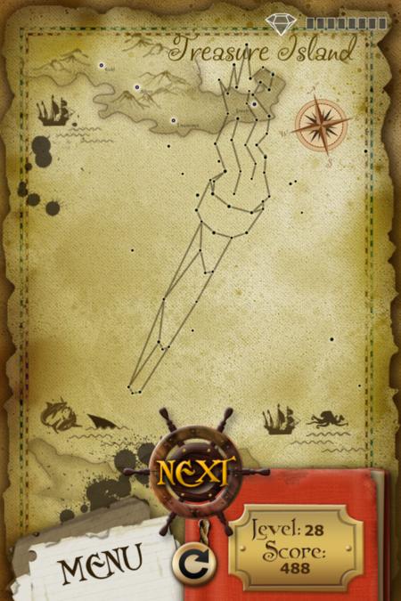 Pictorial Solution: 28 Level Treasure Island