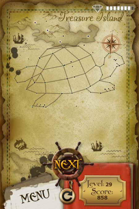 Pictorial Solution: 29 Level Treasure Island