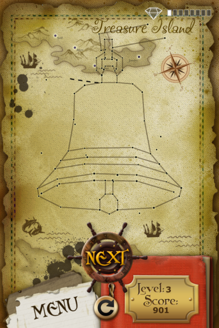 Pictorial Solution: 3 Level Treasure Island