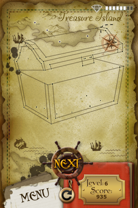 Pictorial Solution: 6 Level Treasure Island