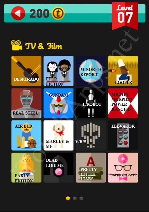 Icon Pop Quiz TV & Film Quiz Level 7 Part 1 Answers / Solutions