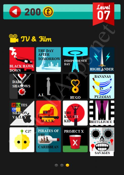 Icon Pop Quiz TV & Film Quiz Level 7 Part 3 Answers / Solutions