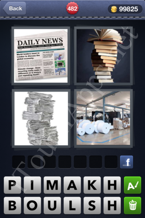 4 Pics 1 Word Level 482 Solution
