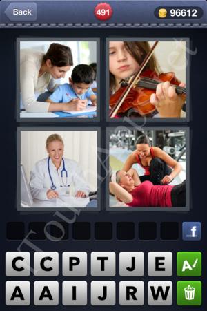 4 Pics 1 Word Level 491 Solution