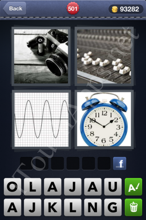 4pics1word 6 letters clock 4 pics 1 word level 501 solution 19085 | 5012