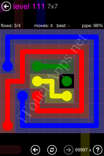 Flow Game 7x7 Mania Pack Level 111 Solution