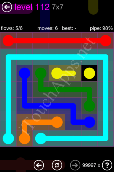 Flow Game 7x7 Mania Pack Level 112 Solution