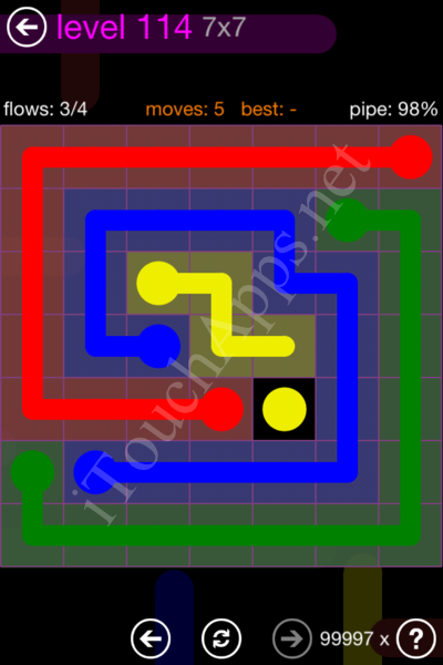 Flow Game 7x7 Mania Pack Level 114 Solution
