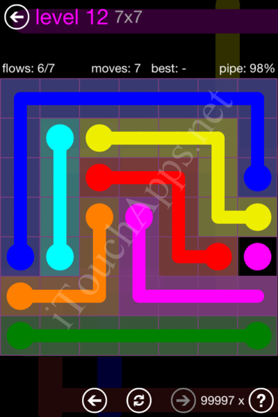 Flow Game 7x7 Mania Pack Level 12 Solution