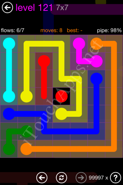 Flow Game 7x7 Mania Pack Level 121 Solution