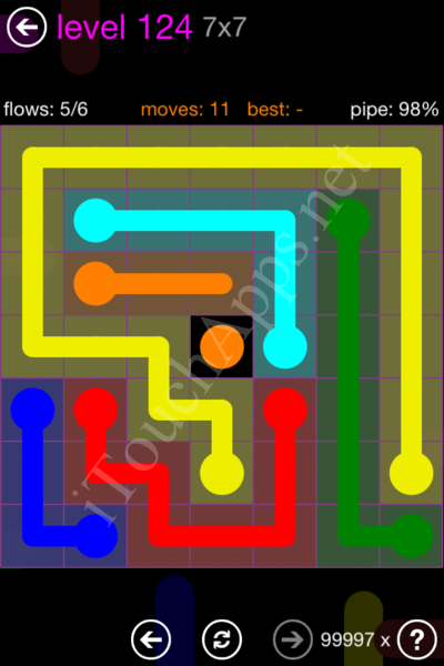 Flow Game 7x7 Mania Pack Level 124 Solution