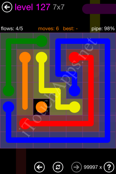 Flow Game 7x7 Mania Pack Level 127 Solution