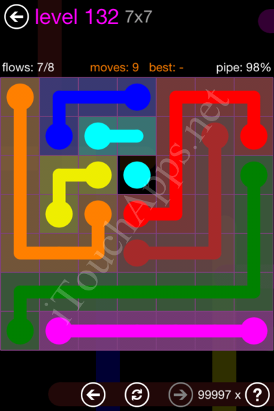 Flow Game 7x7 Mania Pack Level 132 Solution