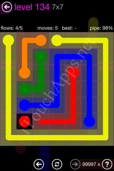 Flow Game 7x7 Mania Pack Level 134 Solution