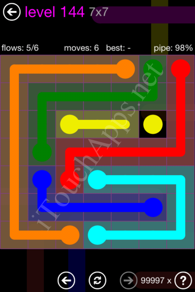 Flow Game 7x7 Mania Pack Level 144 Solution