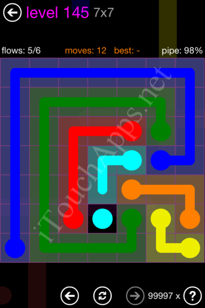 Flow Game 7x7 Mania Pack Level 145 Solution