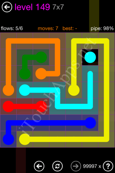Flow Game 7x7 Mania Pack Level 149 Solution