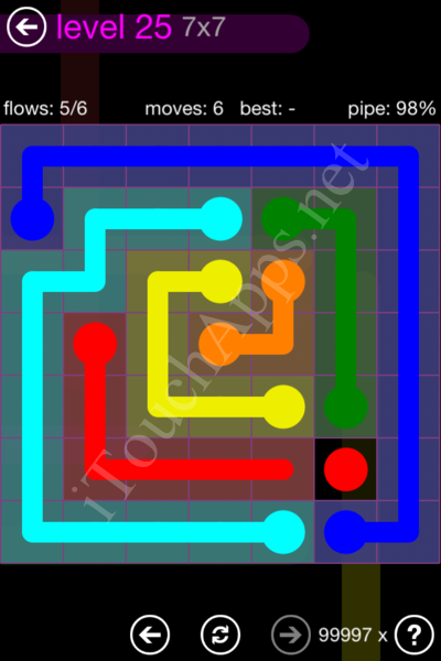 Flow Game 7x7 Mania Pack Level 25 Solution