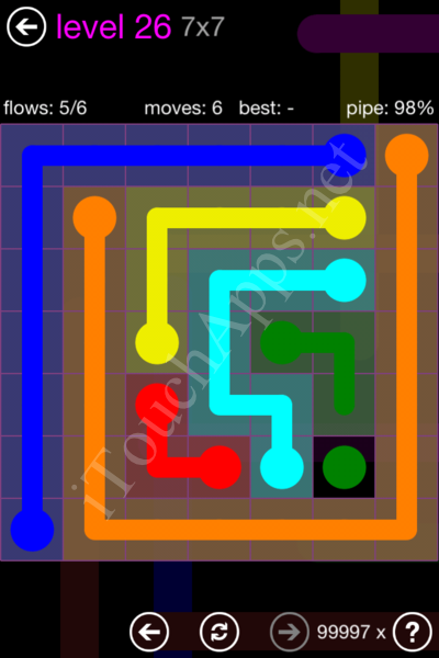 Flow Game 7x7 Mania Pack Level 26 Solution