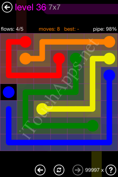 Flow Game 7x7 Mania Pack Level 36 Solution