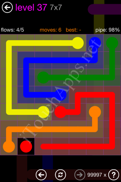 Flow Game 7x7 Mania Pack Level 37 Solution