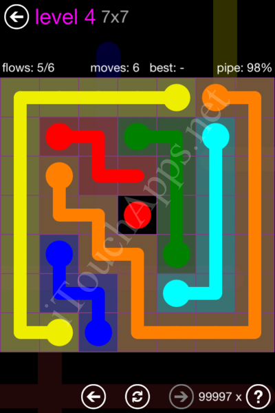 Flow Game 7x7 Mania Pack Level 4 Solution