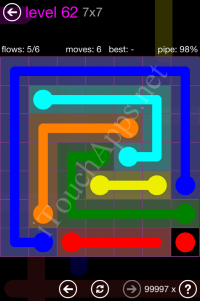 Flow Game 7x7 Mania Pack Level 62 Solution