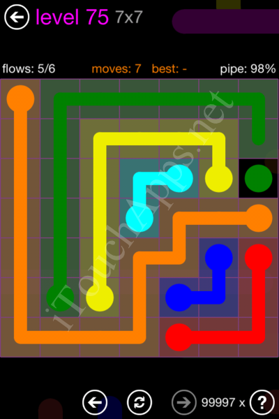 Flow Game 7x7 Mania Pack Level 75 Solution