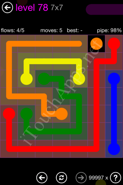 Flow Game 7x7 Mania Pack Level 78 Solution