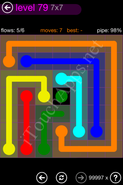 Flow Game 7x7 Mania Pack Level 79 Solution