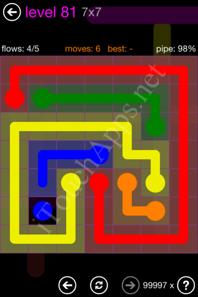 Flow Game 7x7 Mania Pack Level 81 Solution