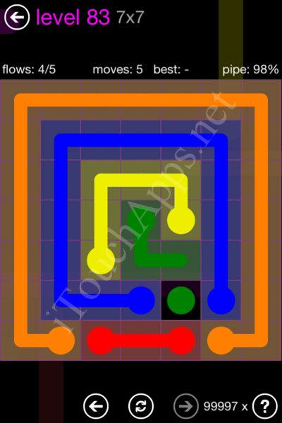 Flow Game 7x7 Mania Pack Level 83 Solution